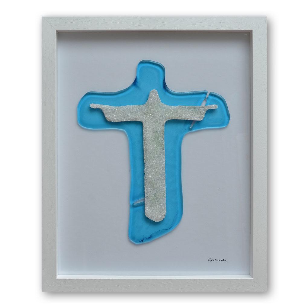 Segnender Christus ca 65 x 55 cm